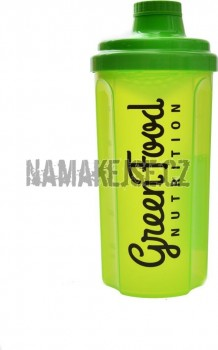 GreenFood nutrition Shaker 500ml transparent green -